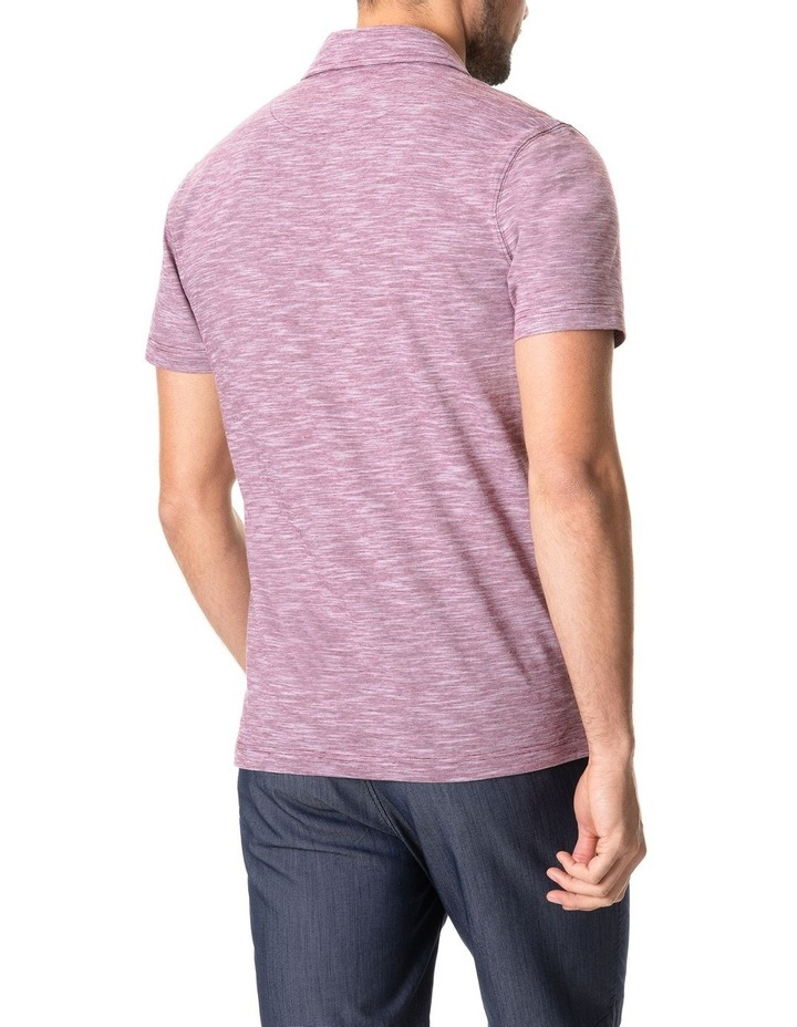 Ascot Park Sports Fit Polo Burgundy image 3