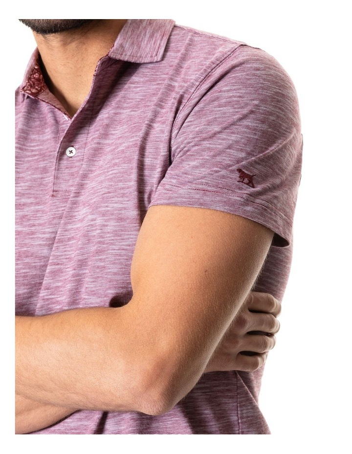 Ascot Park Sports Fit Polo Burgundy image 4