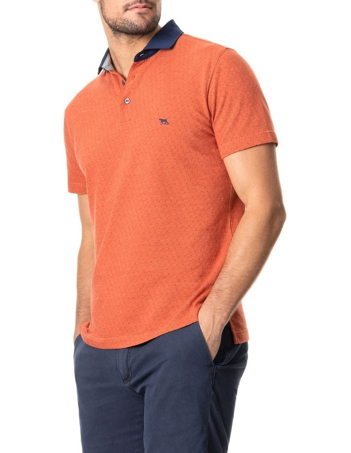 Inlet Sports Fit Polo Burnt Orange image 2
