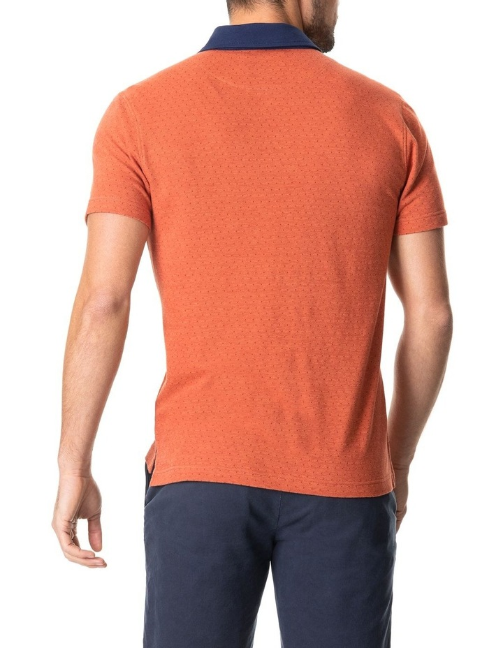Inlet Sports Fit Polo Burnt Orange image 3