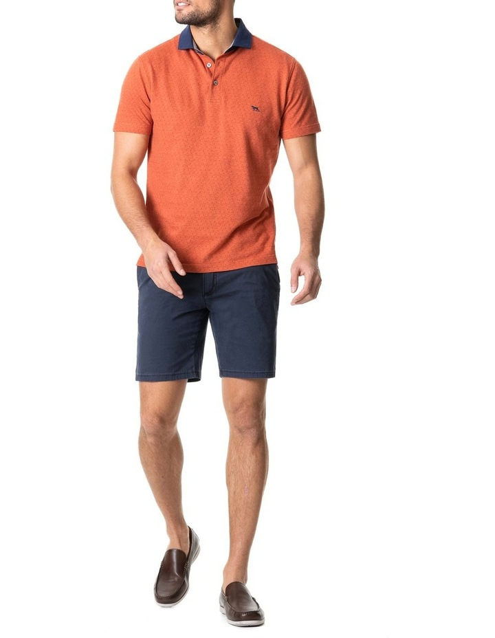 Inlet Sports Fit Polo Burnt Orange image 5