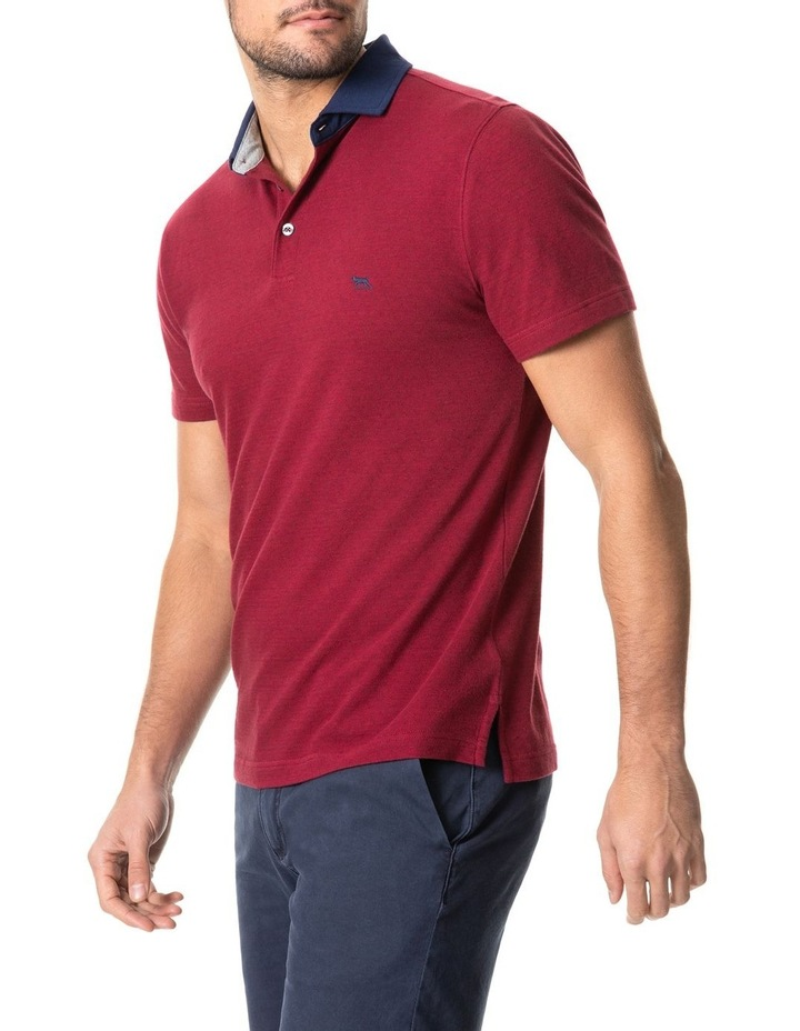 Inlet Sports Fit Polo Crimson image 2