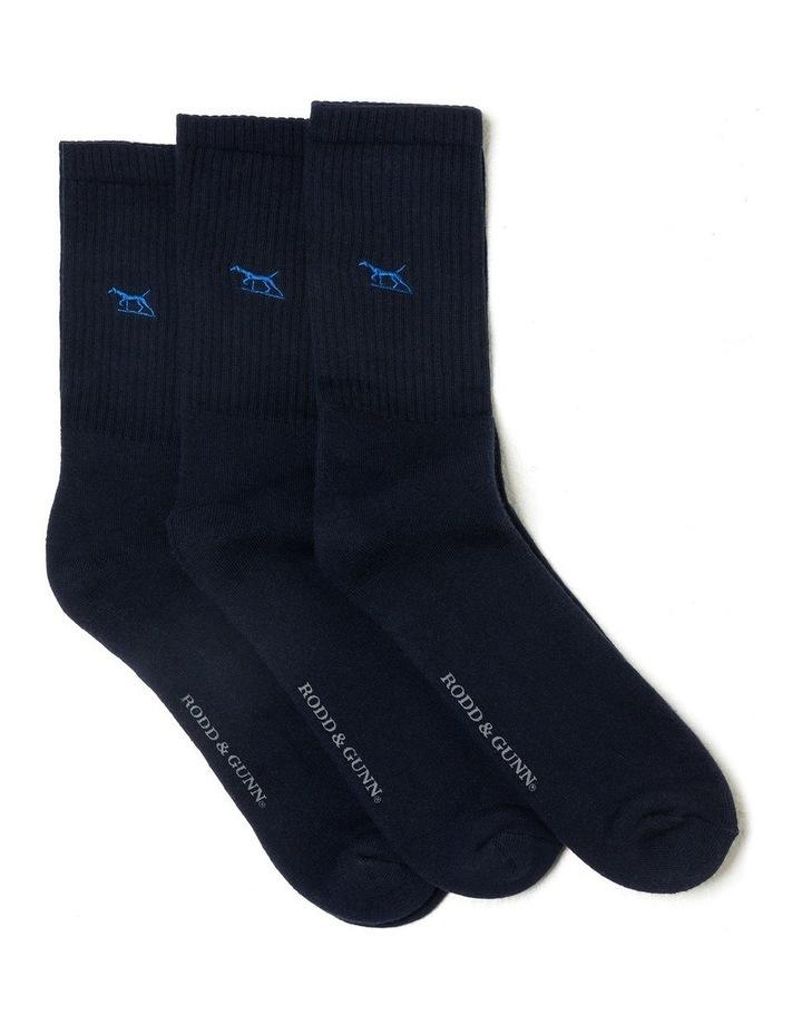 Gunner Three Pack Sock - Navy image 1