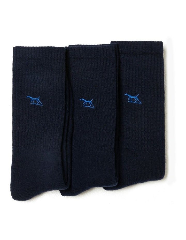 Gunner Three Pack Sock - Navy image 3