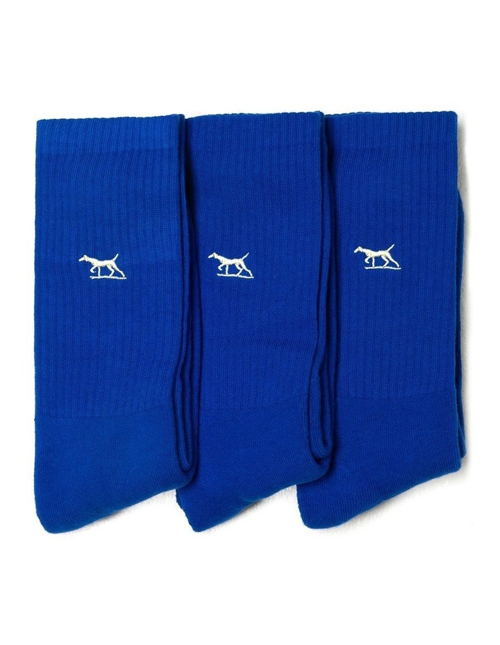 Gunner Three Pack Sock - Cobalt image 1