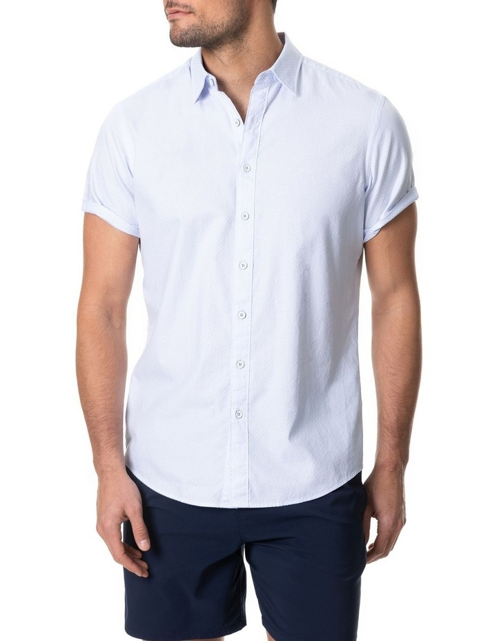 Hurford Short Sleeve Sports Fit Shirt - Sky image 1