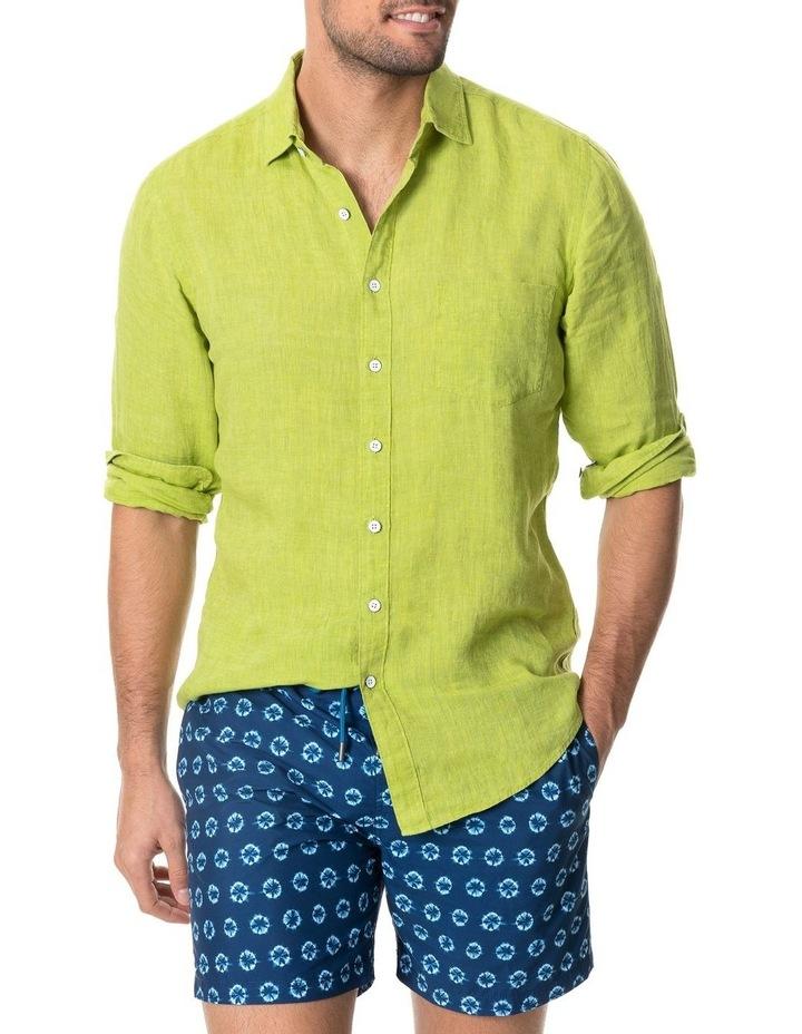 Coromandel Long Sleeve Sports Fit Shirt - Lime image 1