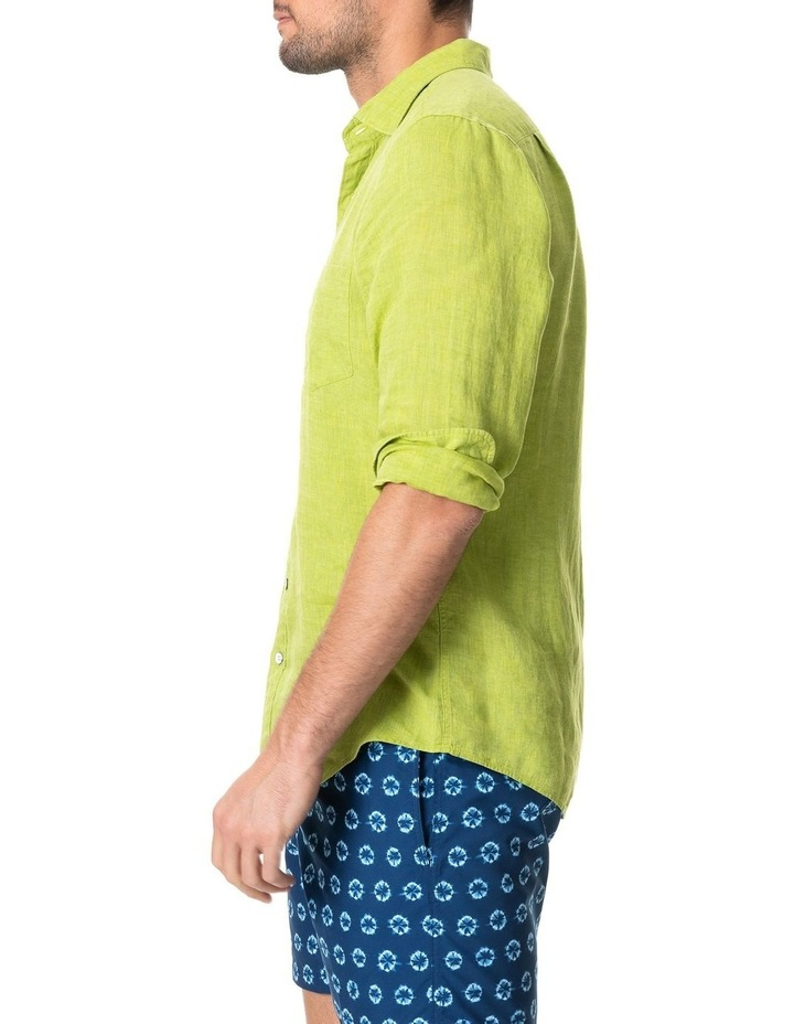 Coromandel Long Sleeve Sports Fit Shirt - Lime image 2