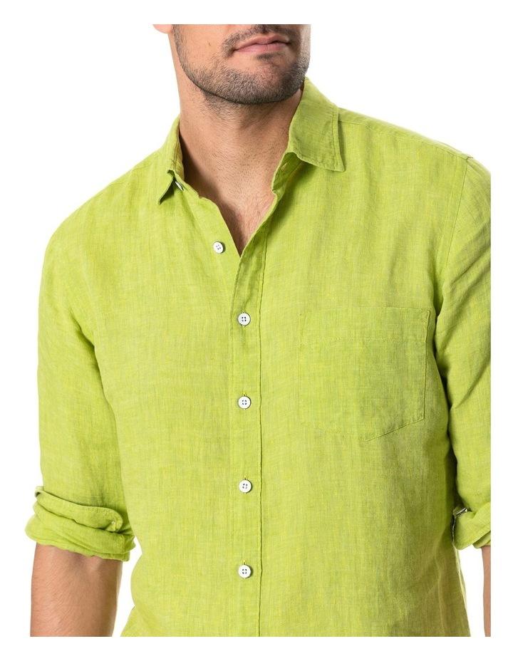 Coromandel Long Sleeve Sports Fit Shirt - Lime image 4