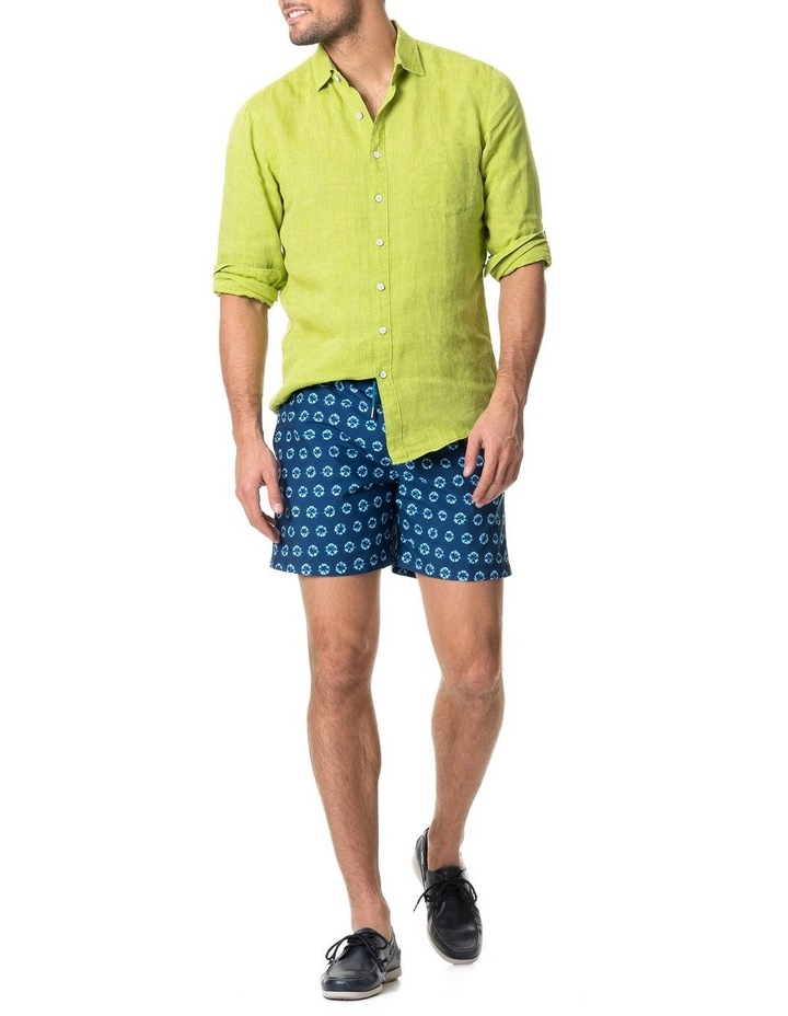 Coromandel Long Sleeve Sports Fit Shirt - Lime image 5