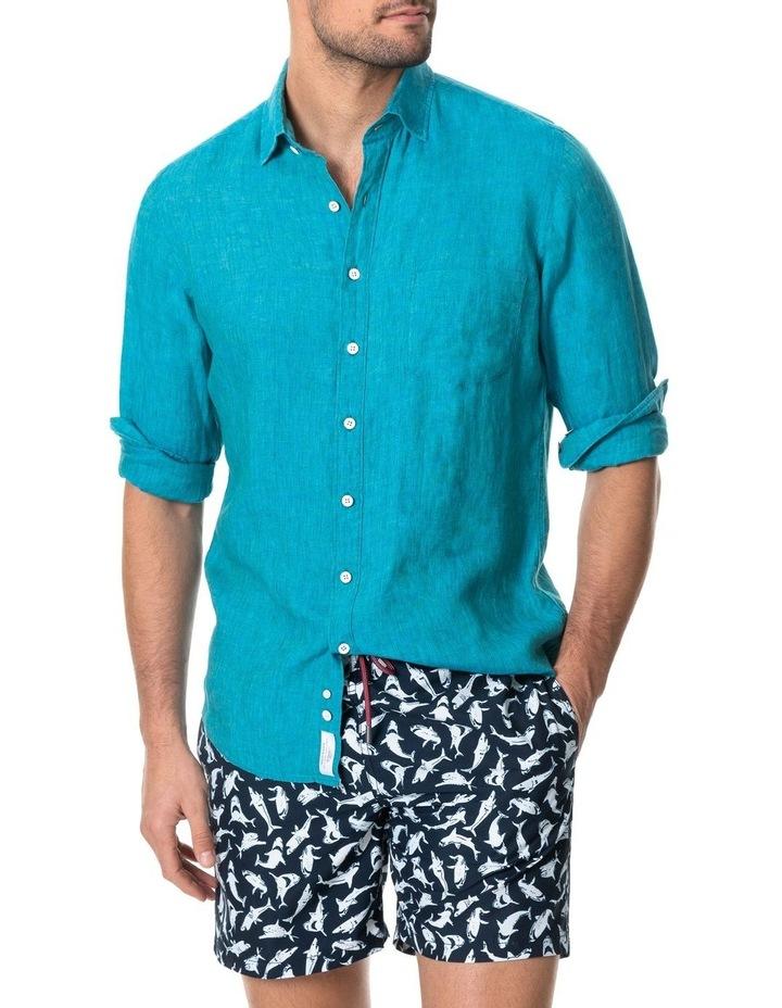 Coromandel Long Sleeve Sports Fit Shirt - Hawaiian Blue image 1