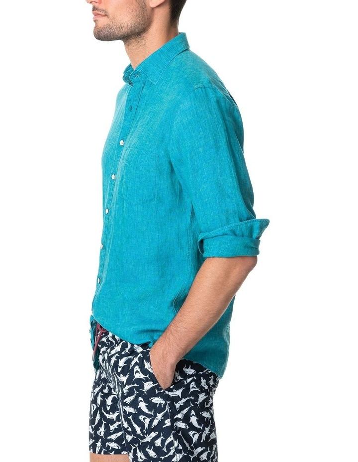 Coromandel Long Sleeve Sports Fit Shirt - Hawaiian Blue image 2