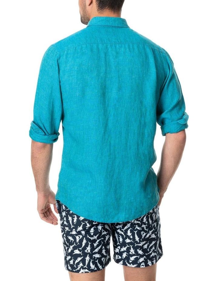 Coromandel Long Sleeve Sports Fit Shirt - Hawaiian Blue image 3