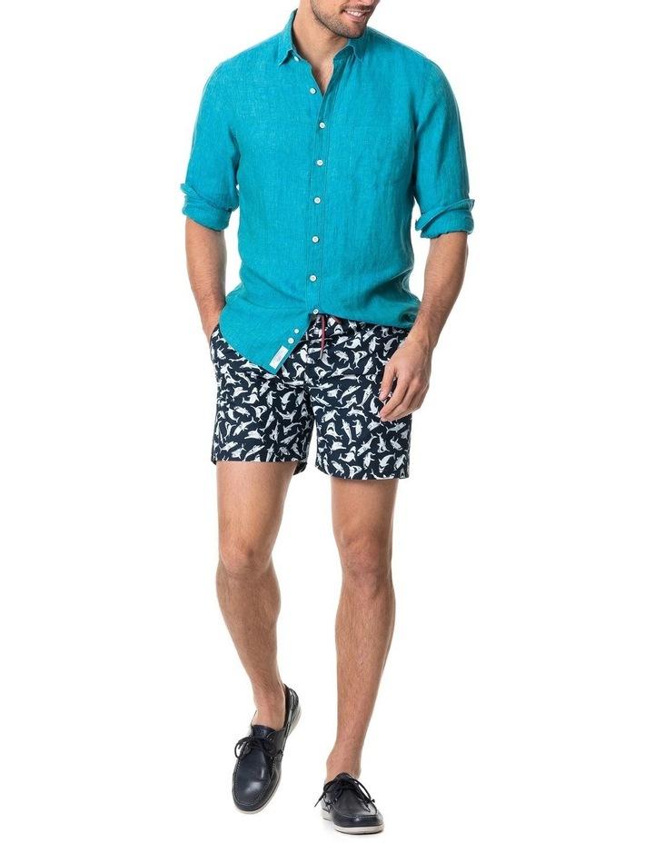 Coromandel Long Sleeve Sports Fit Shirt - Hawaiian Blue image 4
