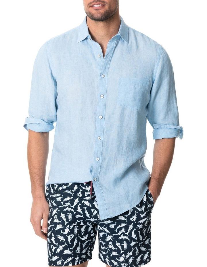 Coromandel Long Sleeve Sports Fit Shirt - Aquamarine image 1