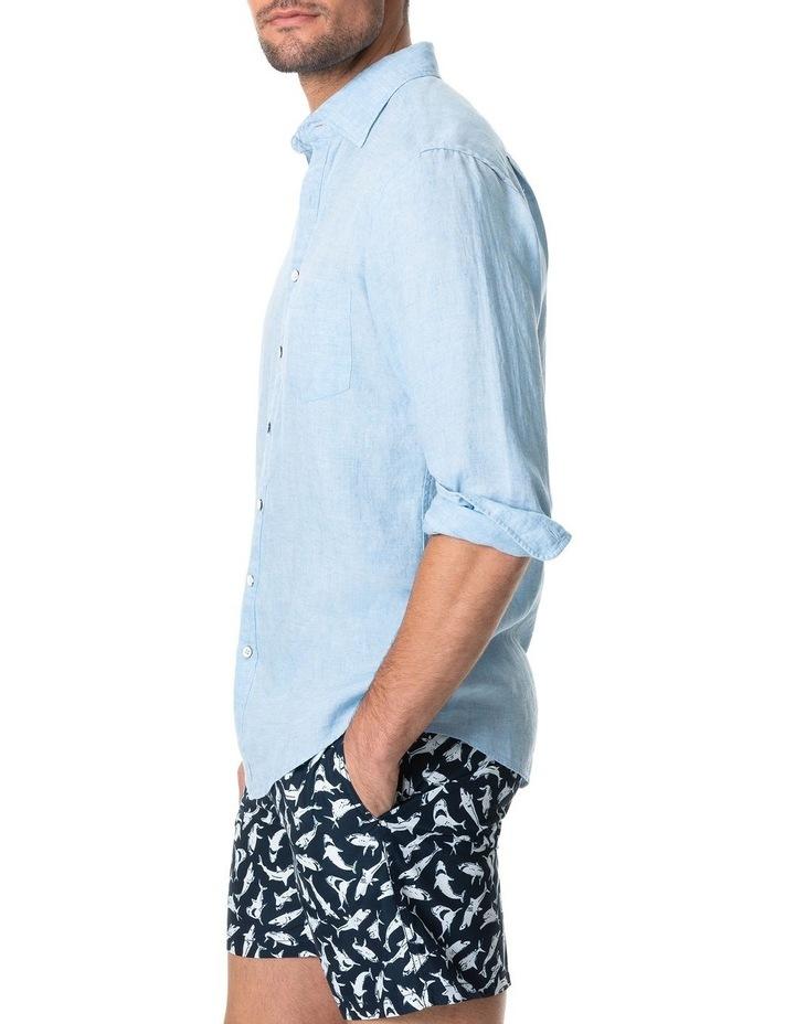 Coromandel Long Sleeve Sports Fit Shirt - Aquamarine image 2