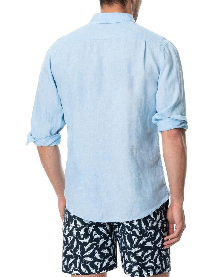 Coromandel Long Sleeve Sports Fit Shirt - Aquamarine image 3