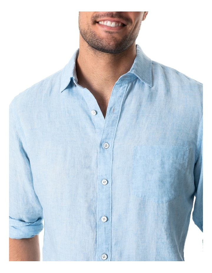 Coromandel Long Sleeve Sports Fit Shirt - Aquamarine image 4
