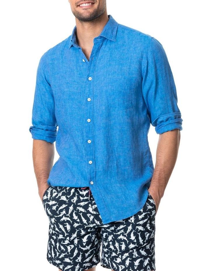 Coromandel Long Sleeve Sports Fit Shirt - Ocean image 1