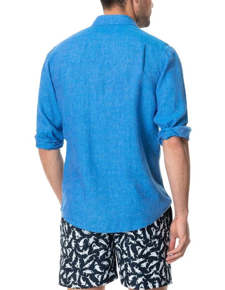 Coromandel Long Sleeve Sports Fit Shirt - Ocean image 3
