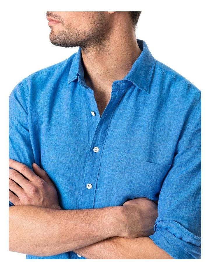 Coromandel Long Sleeve Sports Fit Shirt - Ocean image 4