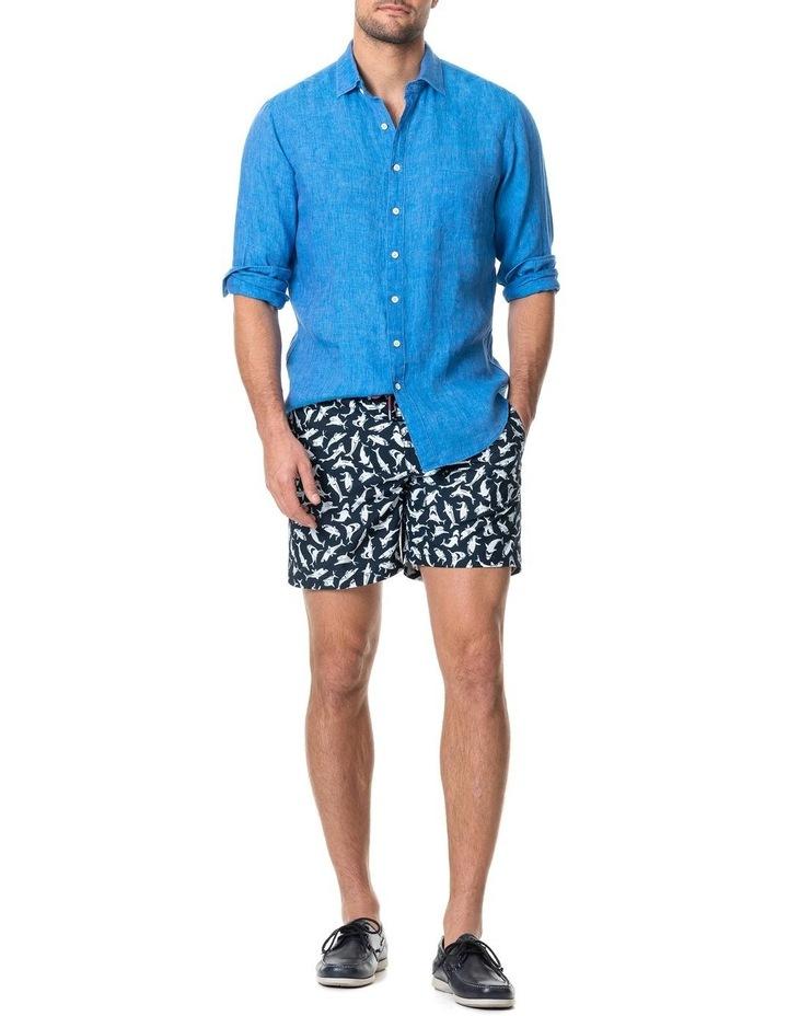 Coromandel Long Sleeve Sports Fit Shirt - Ocean image 5