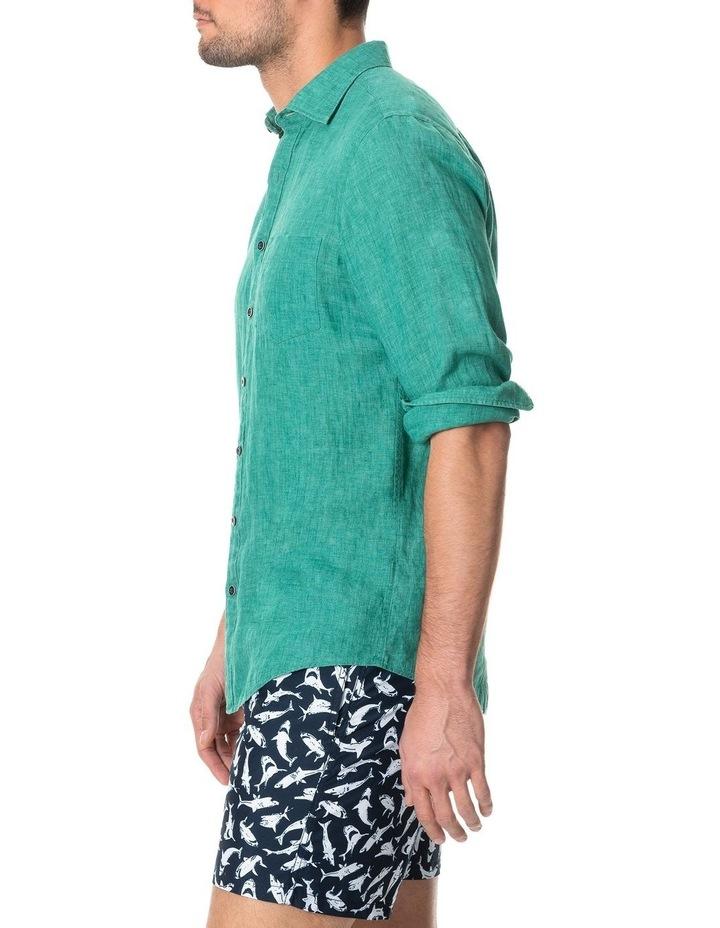 Great Barrier Long Sleeve Sports Fit Shirt - Fern image 2