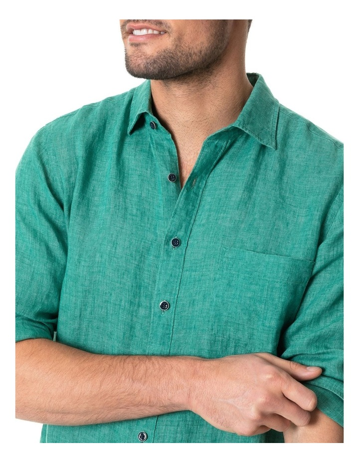 Great Barrier Long Sleeve Sports Fit Shirt - Fern image 4