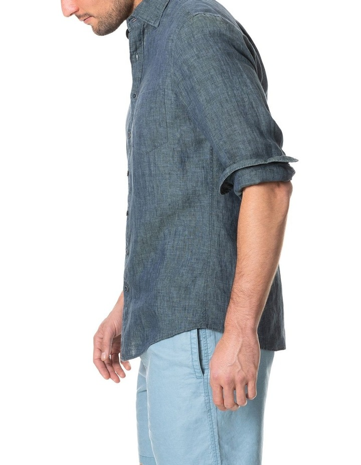Great Barrier Long Sleeve Sports Fit Shirt - Volcano image 2