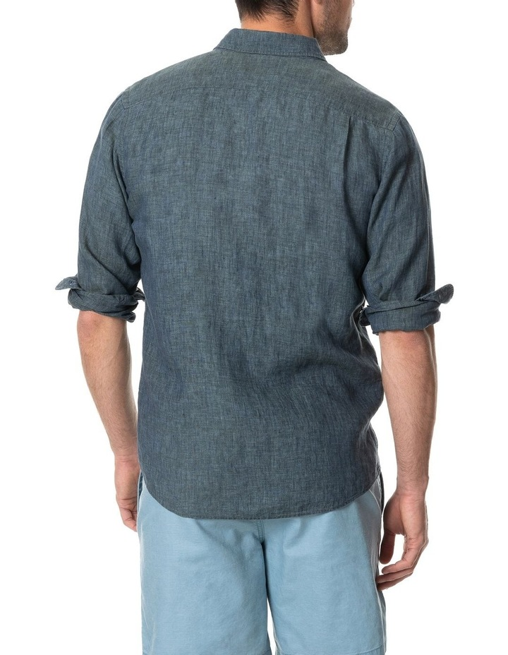Great Barrier Long Sleeve Sports Fit Shirt - Volcano image 3