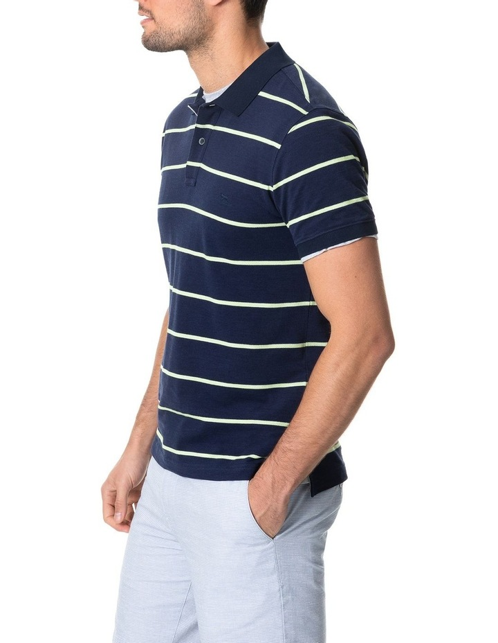 Teal River Sports Fit Polo - Denim image 2