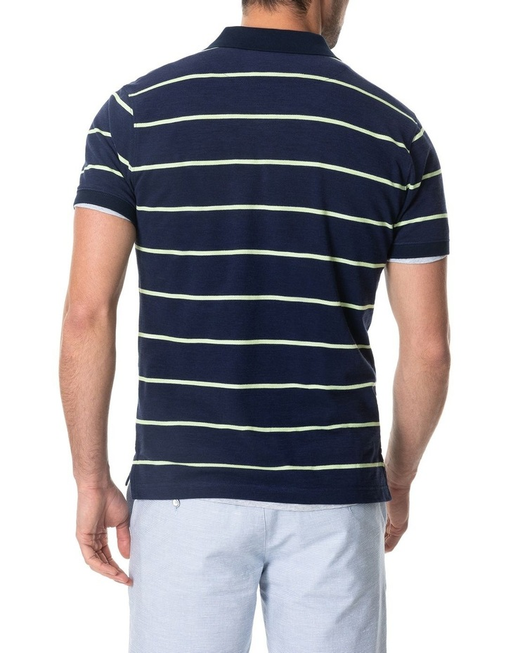 Teal River Sports Fit Polo - Denim image 3