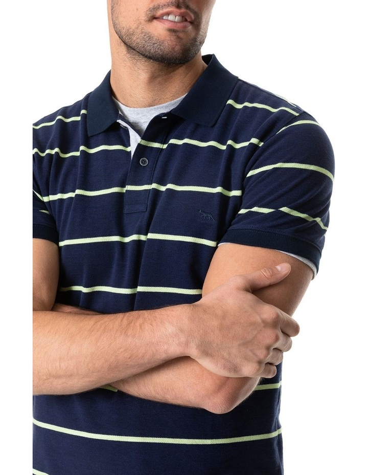 Teal River Sports Fit Polo - Denim image 4
