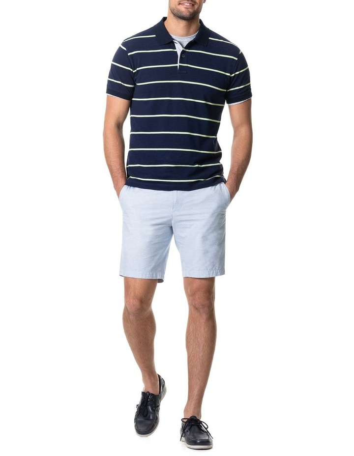 Teal River Sports Fit Polo - Denim image 5