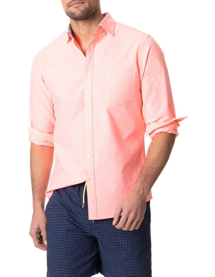 Ostend Long Sleeve Sports Fit Shirt - Sorbet image 1