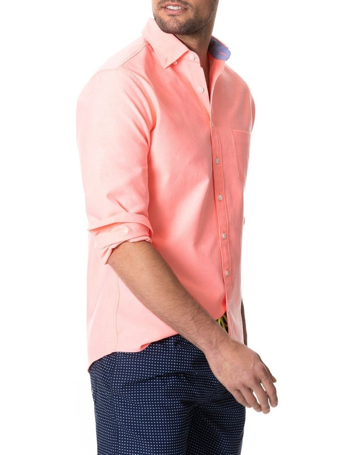 Ostend Long Sleeve Sports Fit Shirt - Sorbet image 2