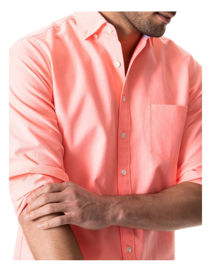 Ostend Long Sleeve Sports Fit Shirt - Sorbet image 4