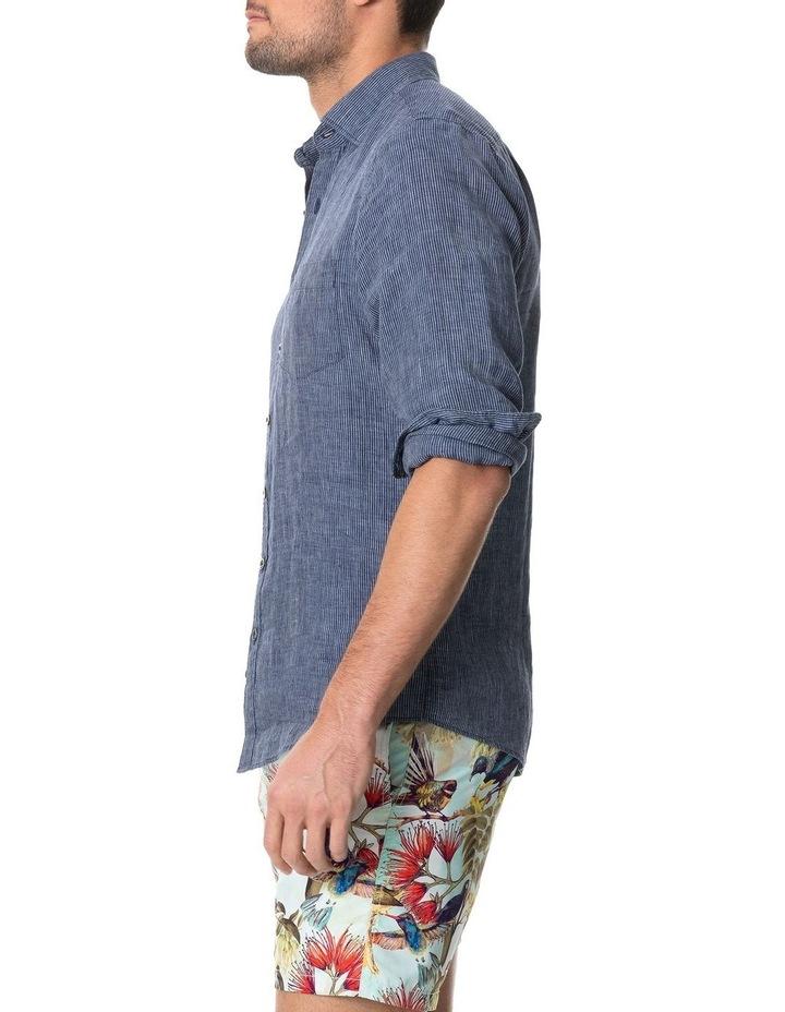 Baylys Beach Long Sleeve Sports Fit Shirt - Marine image 2