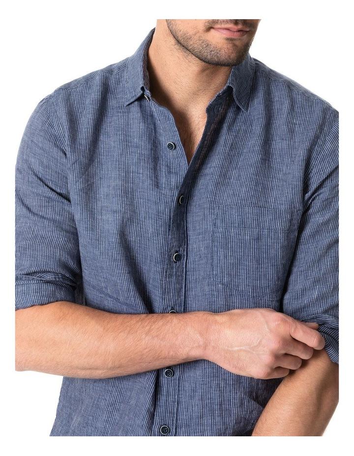 Baylys Beach Long Sleeve Sports Fit Shirt - Marine image 3