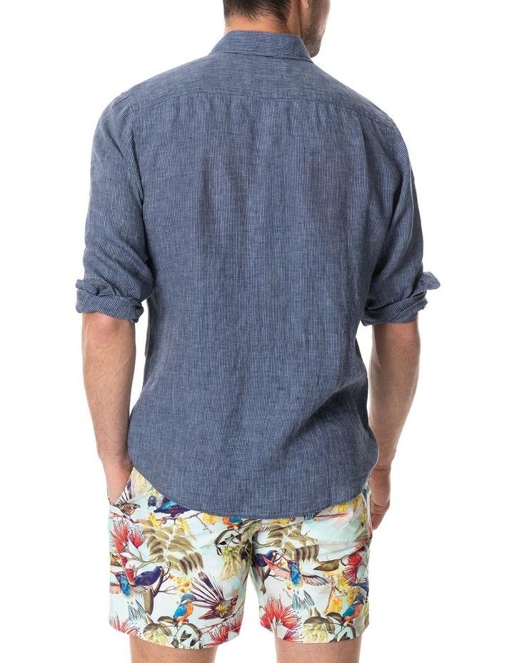 Baylys Beach Long Sleeve Sports Fit Shirt - Marine image 4