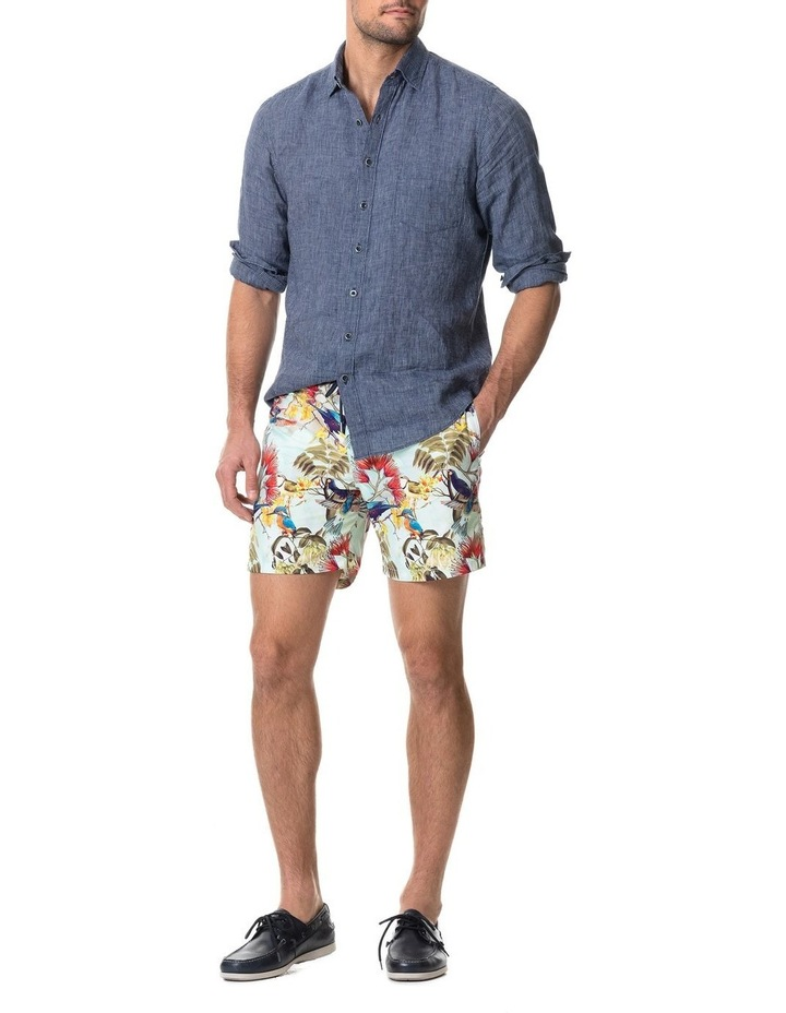 Baylys Beach Long Sleeve Sports Fit Shirt - Marine image 5