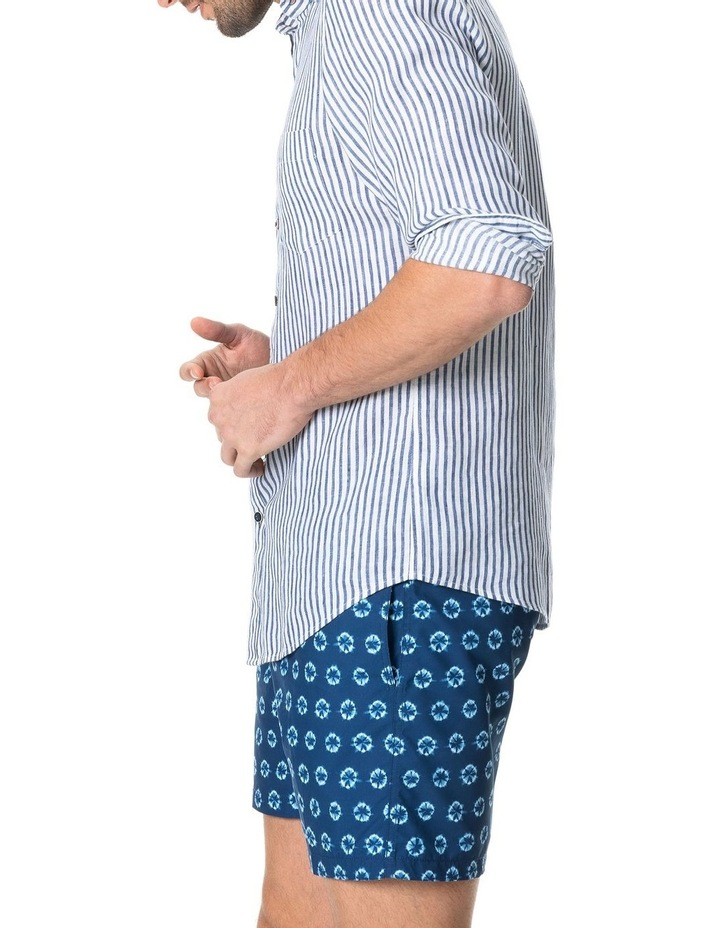 Port Charles Long Sleeve Sports Fit Shirt - Deep ocean image 2