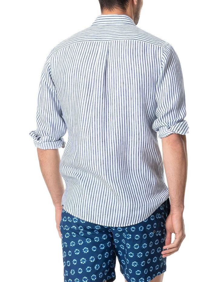 Port Charles Long Sleeve Sports Fit Shirt - Deep ocean image 3