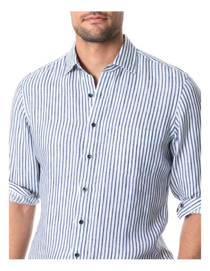 Port Charles Long Sleeve Sports Fit Shirt - Deep ocean image 4