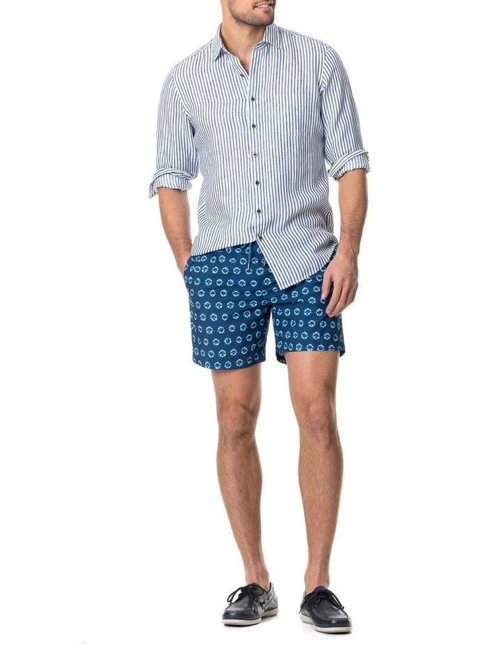 Port Charles Long Sleeve Sports Fit Shirt - Deep ocean image 5