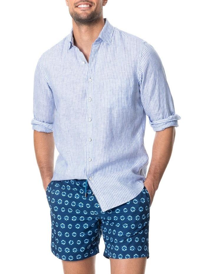 Bay Of Plenty Long Sleeve Sports Fit Shirt - Malibu image 1