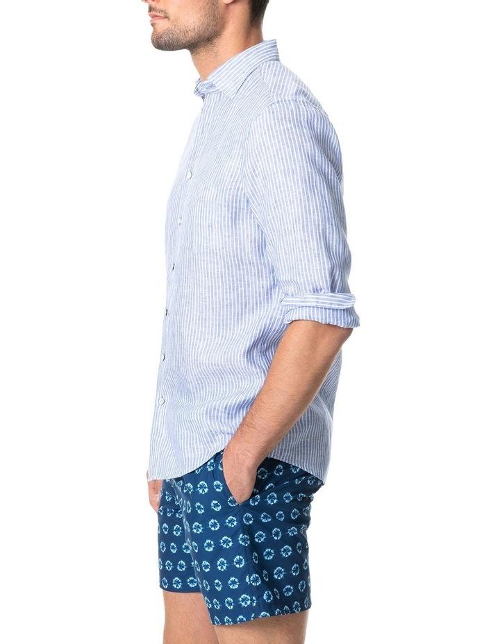 Bay Of Plenty Long Sleeve Sports Fit Shirt - Malibu image 2