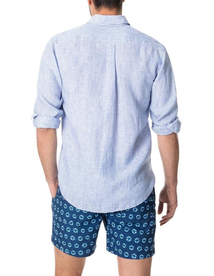 Bay Of Plenty Long Sleeve Sports Fit Shirt - Malibu image 3