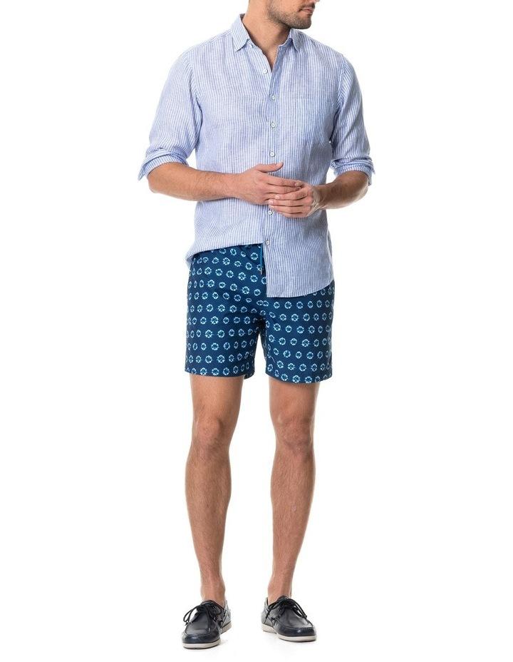 Bay Of Plenty Long Sleeve Sports Fit Shirt - Malibu image 5