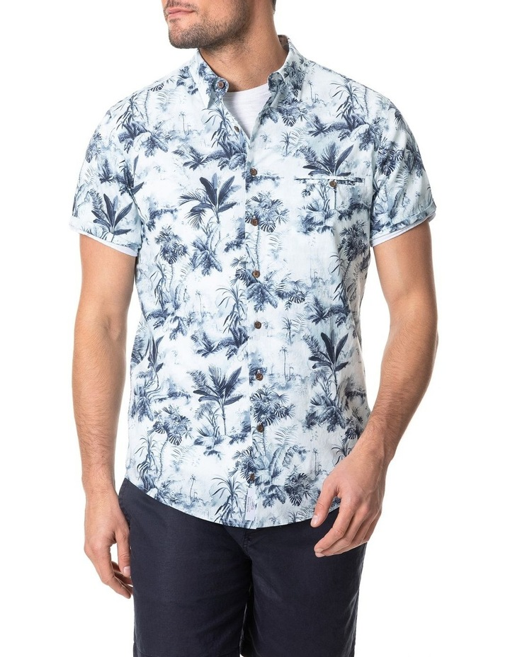 Mill Road Short Sleeve Sports Fit Shirt - Ivory image 1
